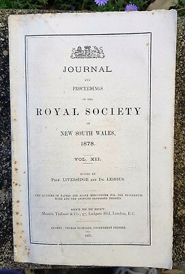 Proceedings of the Royal Society of NSW (1878)