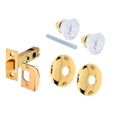 Prime Line E-2317 Adjustable Knob Passage Door Latch Set, 2 in Dia, Glass