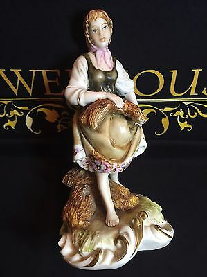 Antique Capodimonte Porcelain Figure