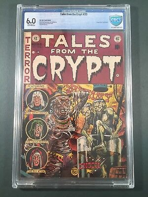 Tales from the Crypt #33 CBCS 6.0 - 1952 EC Comics Golden Age Horror - Not CGC