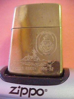 1993 Zippo Lighter – Highly Decorated USS Barry - Guided Missile Destroyer