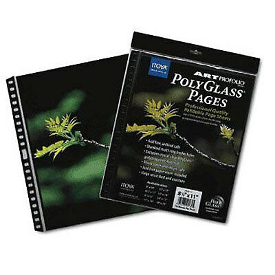 """Itoya 13 x 19"""" Art Profolio Pollyglass Pages (10 Pages)"""