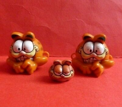 Vintage Garfield Bow Biters Shoe Lace Holders Ties * 1981 * Rare