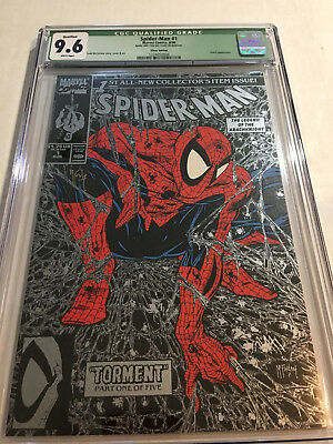 Spider-Man #1 CGC 9.6 Silver 1990 Torment signed by McFarlane Spider's Web stamp