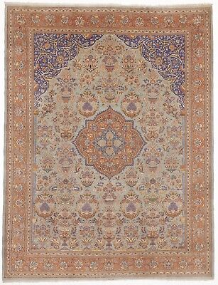 "Antique Hand knotted Oriental rug. 9'2""x 12'"