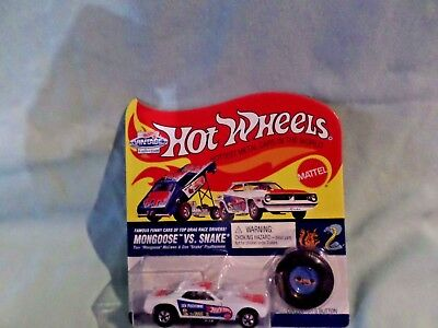 96 Hot Wheel Vintage Don Prudhomme Snake Funny Car  White Factory Sealed Wow Wow
