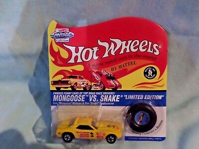 96 Hot Wheel Vintage Don Prudhomme Snake Funny Car Carefree Yellow Factory Seal