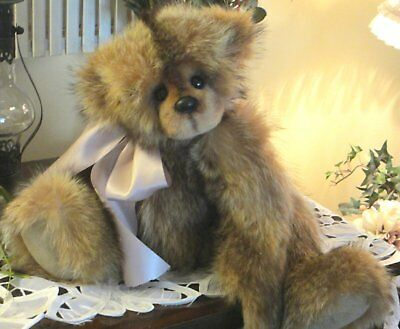"""Real Fur Collectible One of a Kind 20"""" Artist Bear"""