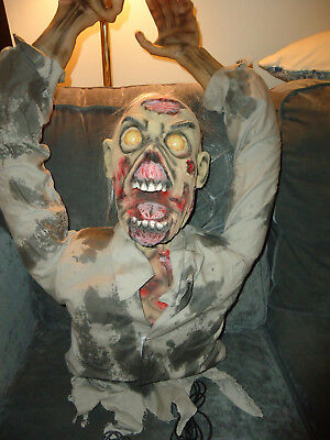 Spirit Motion Activated Head Banger Zombie-Scary-Works-Screams-Eyes Glow-Moves