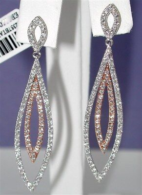 $4,600~Halloween Sale~Killer Witchy 1.75Ctw F-Vs Diamond Dangle Earrings-$99