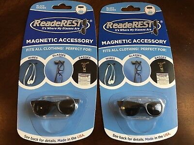 2pk Readerest Shades Shark Tank Magnetic Accessory Glasses Holder Sunglasses