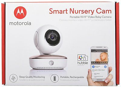 Motorola MBP87CNCT Smart Nursery Cam Portable Wi-Fi Video Baby Monitor Camera