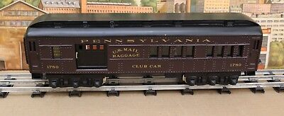 Daniel Trains JAD Standard Gauge Pennsylvania Club Car Combine #1780 ABS Lighted