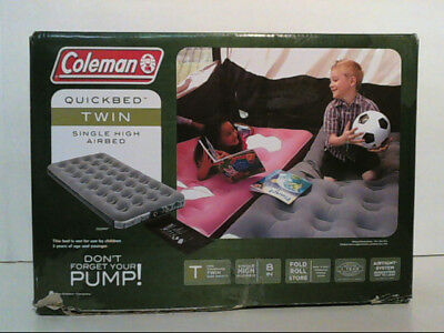 Coleman 2000014960 Quickbed Single High Airbed Grey Size Twin