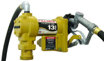 Tuthill SD600 Fuel Transfer Pump, 13 gpm, 1 in x 3/4 in, 3/4 in X 12 ft Hose,