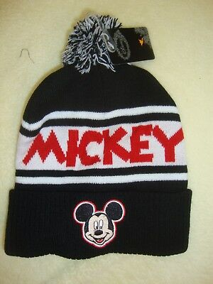 Ladies / Girls Disney Mickey Mouse  Toque Nwts Soft & Warm Knit
