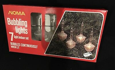 7 Noma Crystal Bubble Lights NIB Or As Replacement Bulbs Or Line Indoor