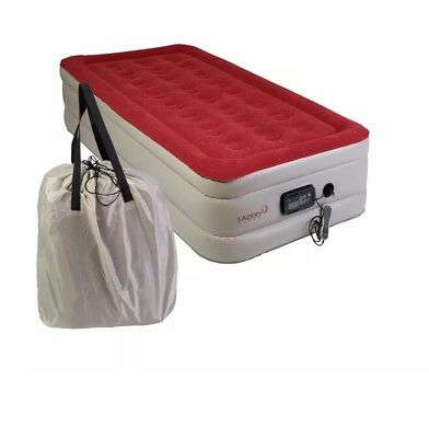 New! Lazery Sleep Air Mattress Air bed • Built-In Electric 7 Settings Remote LED