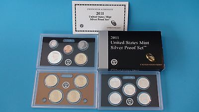 2011 S US Mint Silver 14 Coin Proof Set in US Mint Packaging & Includes a COA