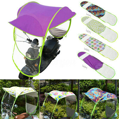 Safe Universal Motor Scooter Umbrella Mobility Sun Shade Rain Cover Waterproof