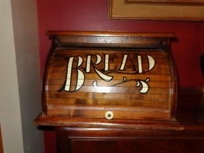 VTG Wooden Primitve Bread Box Chest