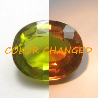 3.95 Cts Color Changing A Miracle Piece Horsetail Green Natural Chrysoberyl