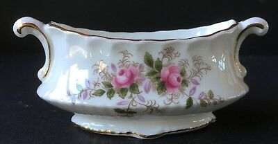 Royal Albert Lavender Rose Small Fancy Oval Vase or Toothpick Holder