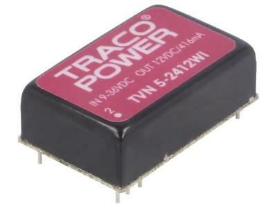 TVN5-2412WI Converter DC/DC 5W Uin9÷36V Uout12VDC Iout416mA DIP24 TRACO POWER
