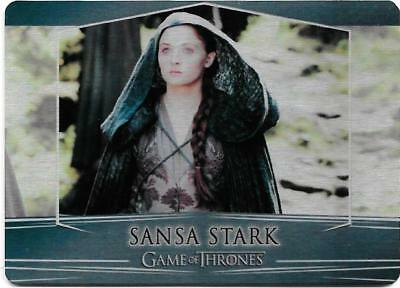 2017 Game of Thrones Valyrian Steel Base Metal Card #6 Sansa Stark
