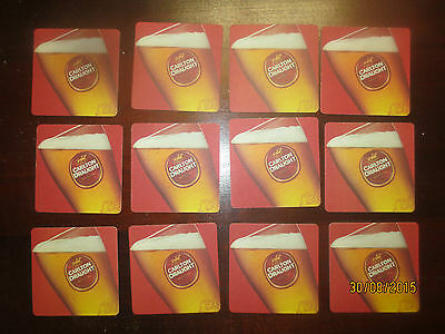 12 CARLTON DRAUGHT collectable COASTERS