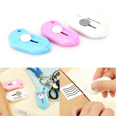 1Pc Mini Portable Knife Paper Cutter Cutting Paper Razor Blade Office Stationery