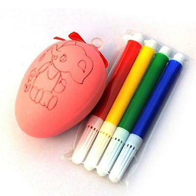 Water Color Pen & Egg Kids DIY Painting Color Egg Toy Easter Egg Education Toys