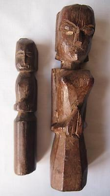 Antique Pair of Carved Nepal Ancestor Figures - Tribal Art