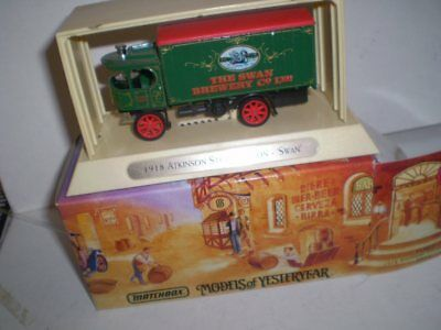 Matchbox Great Beers Models of Yesterday -1918 Atkinson Steam Wagon  - SWAN BEER