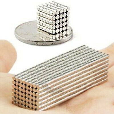 200pcs Neodymium Disc Mini 2 X 2mm Rare Earth N50 Strong Magnets Craft Model