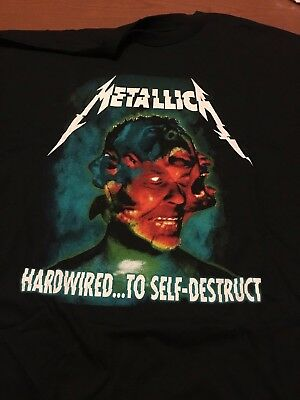 Metallica 2017 Hardwired...to Self Destruct Tour Shirt NO TAG NEW 2XL