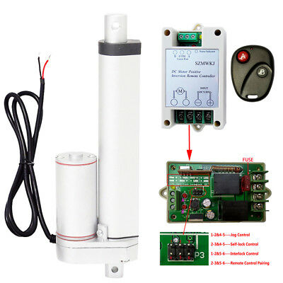 """Set of 12V 8"""" Linear Actuator 1500N Motor + Remote Control for Industry Car Lift"""