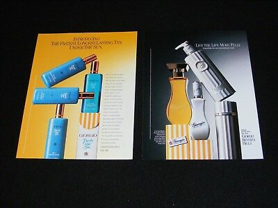 GIORGIO BEVERLY HILLS magazine clippings ads 1988 & 1989 fragrance and tan