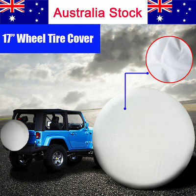 """17 Inch 4x4 4WD White Spare Wheel Cover Tyre Fit Car Tire Diameter 80~83cm 32"""""""