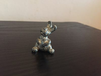 Very Collectable & Rare Small Solid Pewter Rabbit Figure Ornament Merlin Pewter?