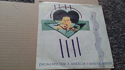 "Simple Minds ""Promised You A Miracle"" Picture Sleeve Vinyl Single"