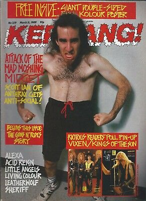 KERRANG! #229 MAR 1989: ANTHRAX Guns N' Roses LIVING COLOUR Alexa LEATHERWOLF