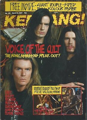 KERRANG! #231 MAR 1989: THE CULT Guns N' Roses METALLICA Europe FEMME FATALE