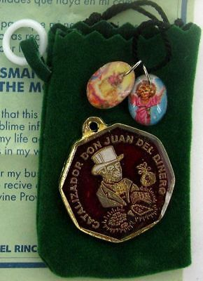 MR MONEY DON JUAN TALISMAN WITH POUCH POCKET  Wicca Pagan Witch DRAW PROSPERITY