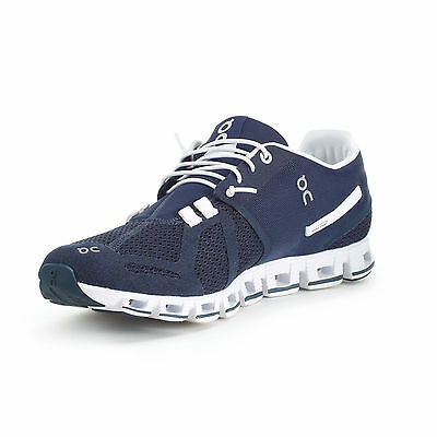 On Running Cloud Running Shoe Mens Blue - White from the Running Experts