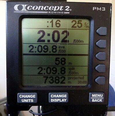 PM3 monitor for Concept2 rowing machine