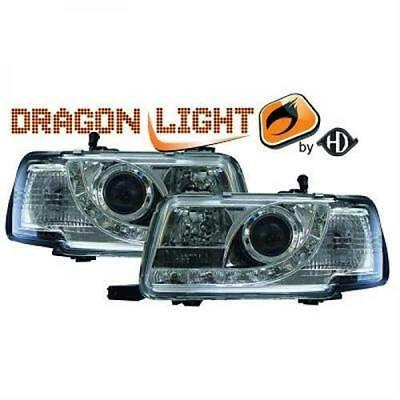 AUDI 80 91-94 Designscheinwerfer Dragon Light Klarglas Chrom