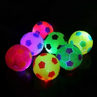 Flashing Bouncy Ball LED Light Children Kids Pet Dog Outdoor Play Fun Toys
