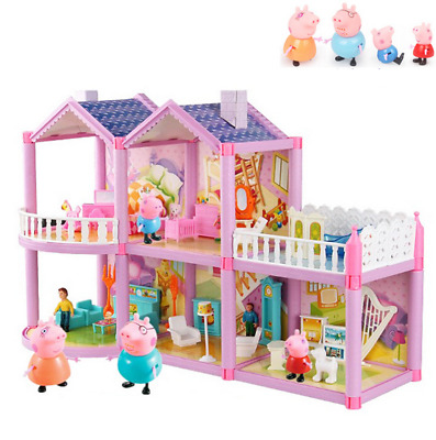 Kinder Peppa Pig Family Schloss  Haus Figures Spielzeug  Familie Toys Doll