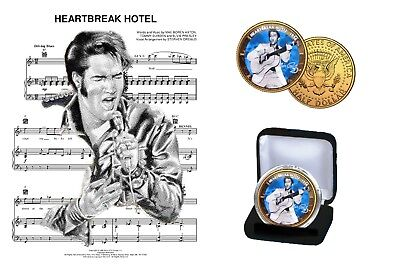 Elvis Presley -  24Kt Gold Plated Its Now Or Never Colorized Half Dollar Coin